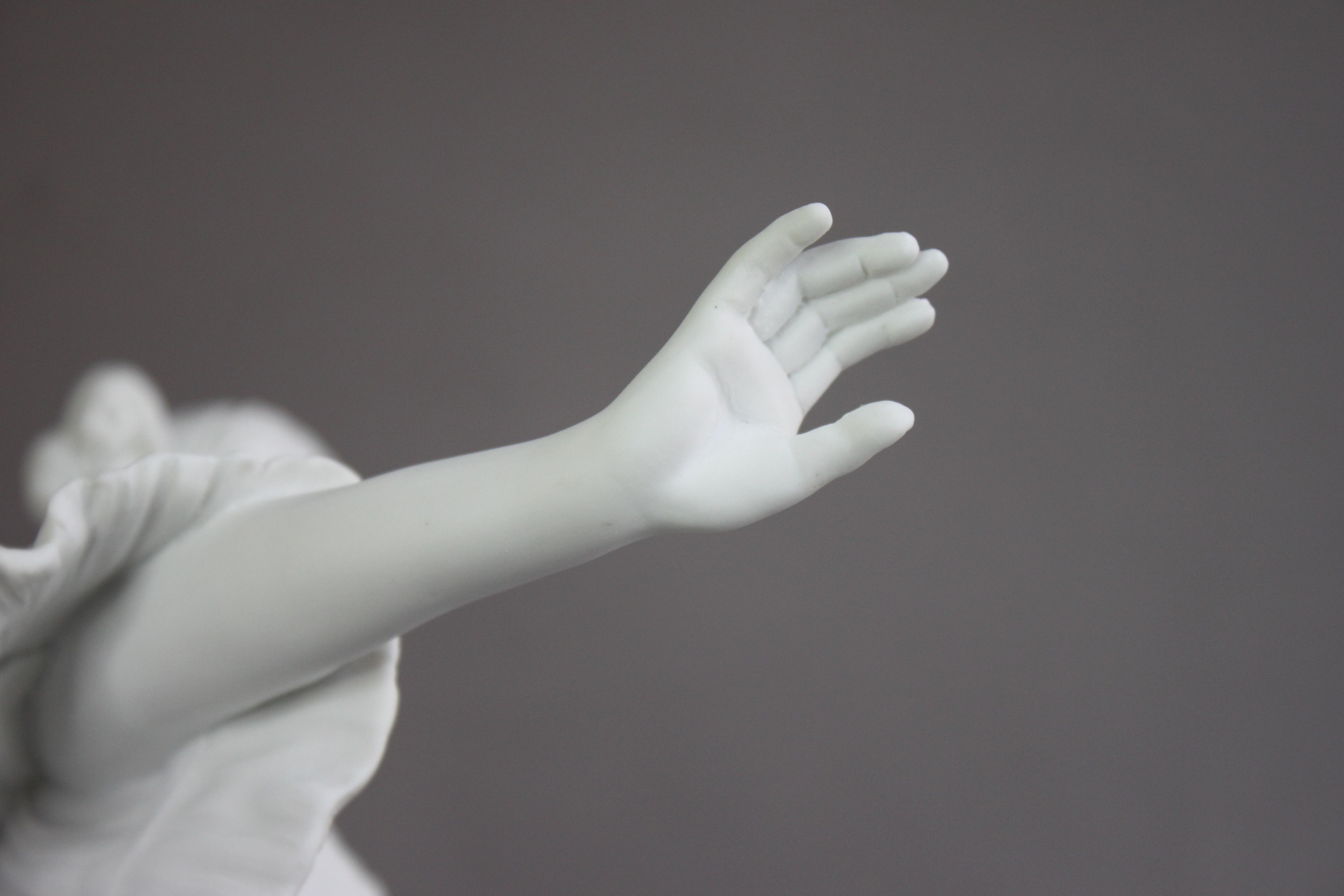 Restauration d'une sculpture en porcelaine de Sèvres - La Danseuse
