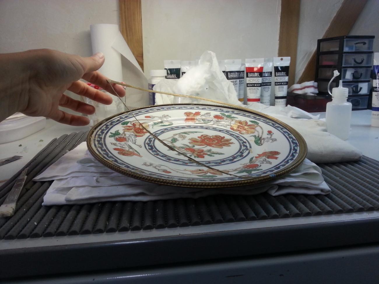 Restauration d'une assiette cerclée