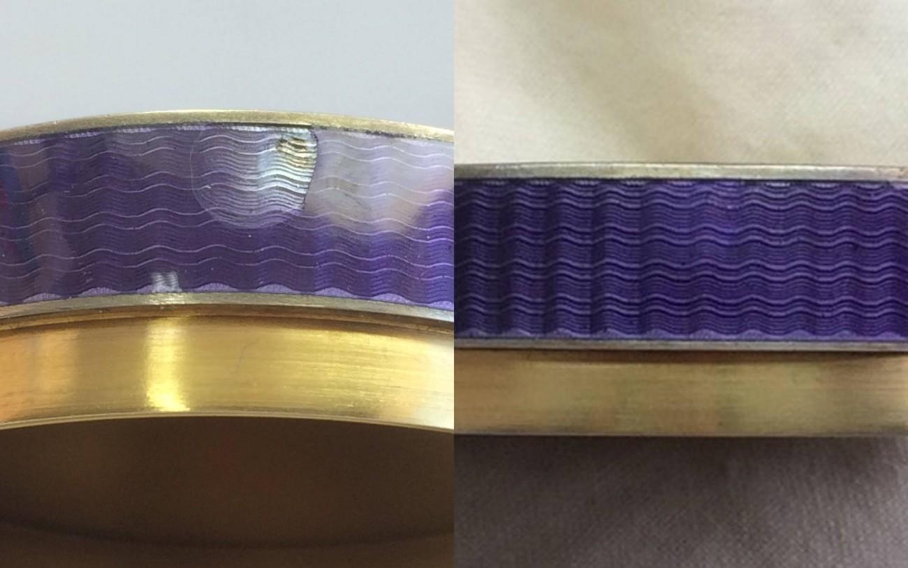 Restauration d'un boîtier émaillé