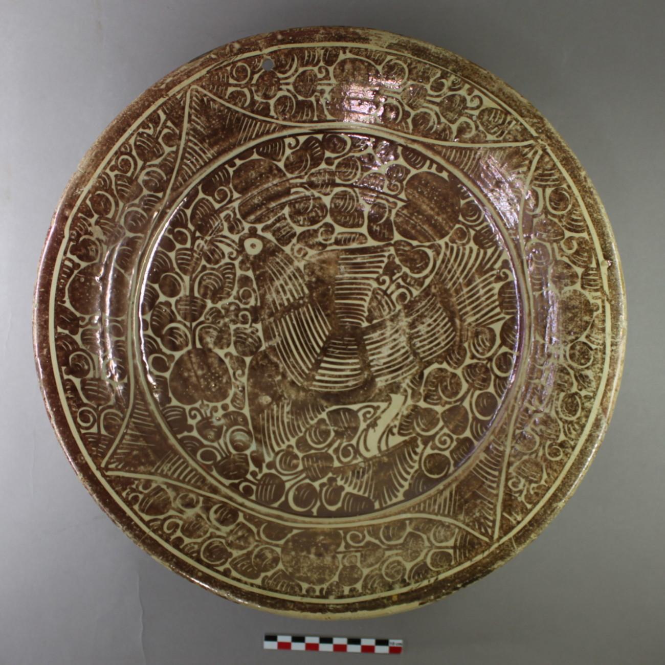 Restauration d'une céramique lustrée hispano-mauresque