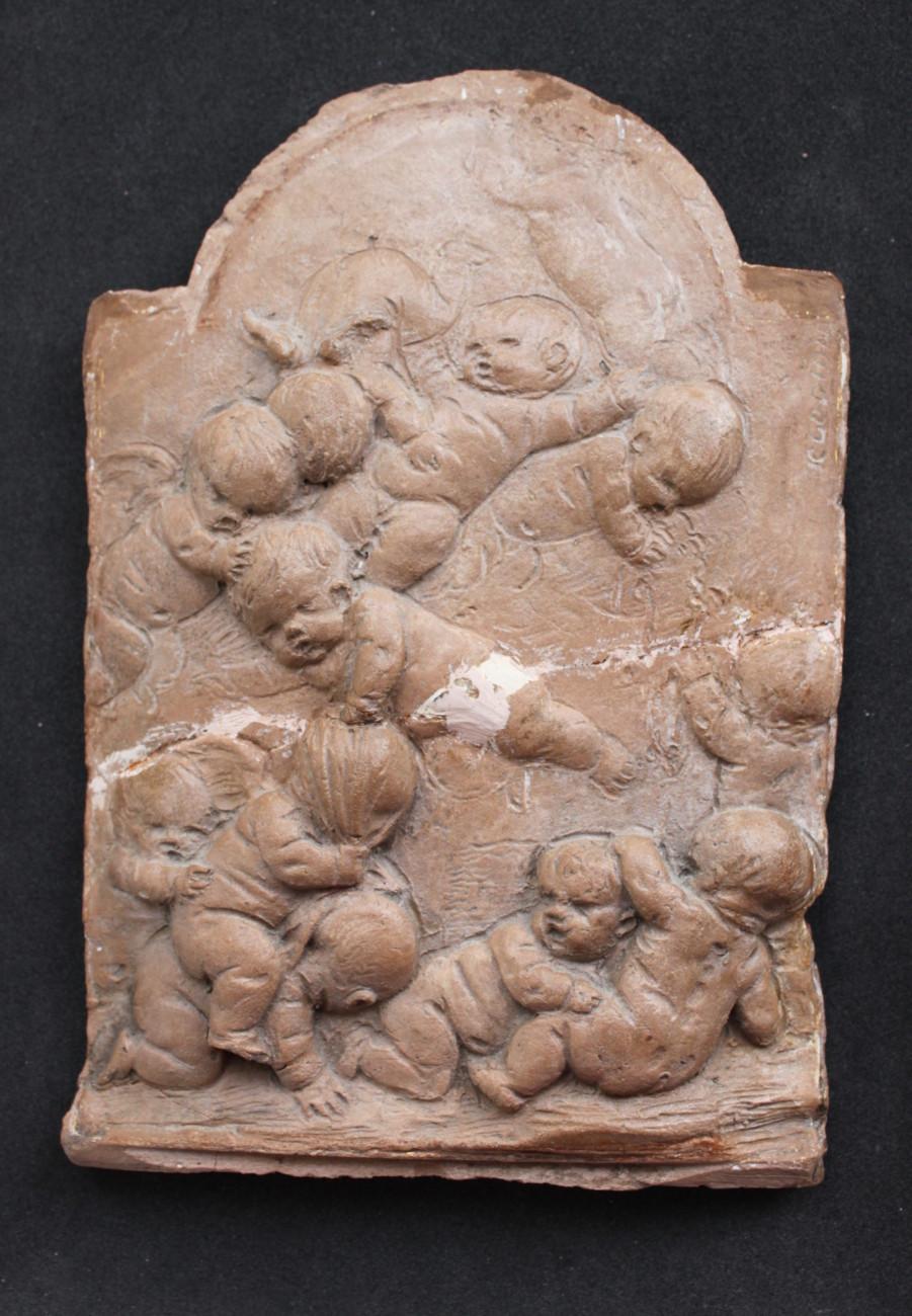 Restauration d'un bas-relief attribué à Clodion