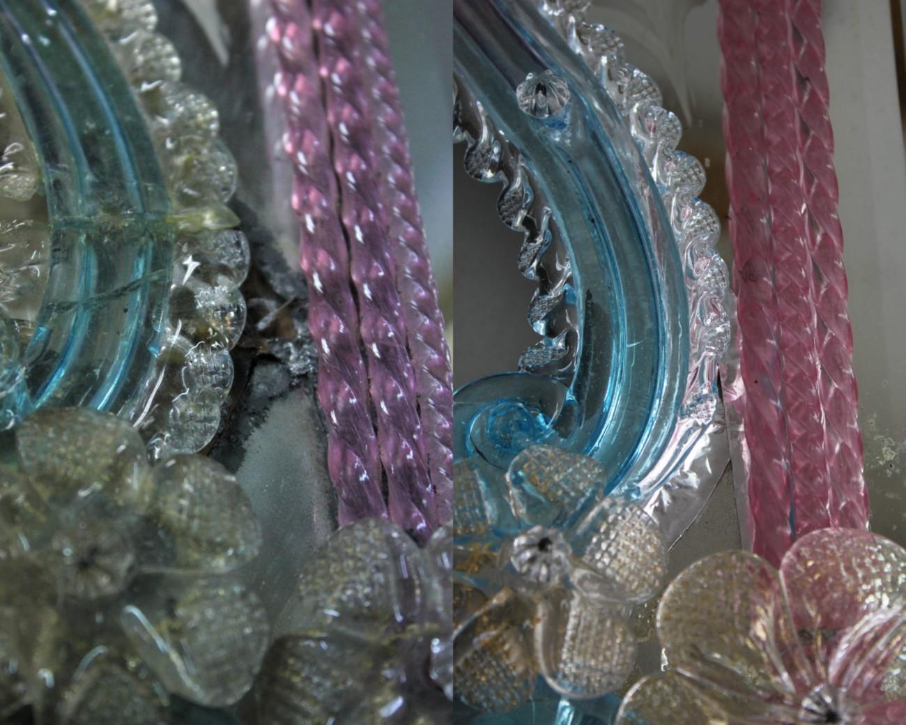 Restauration d'un miroir de Murano