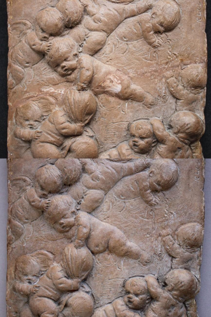 Bas-relief attribué à Clodion