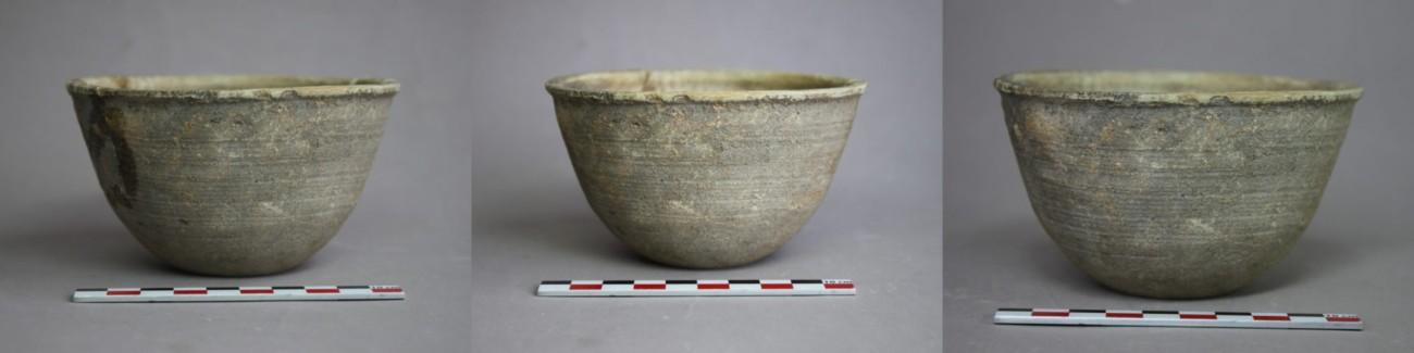 Restauration d'une coupelle en terre cuite tunisienne appartenant aux rites chrétiens, 3-4ème siècle