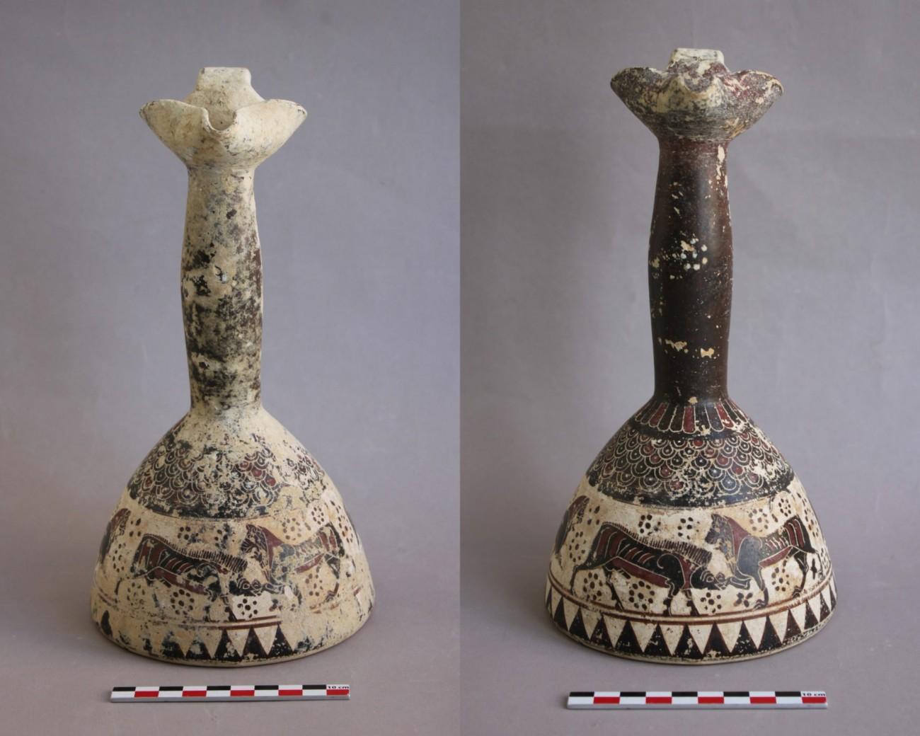 Restauration d'une céramique archéologique corinthienne