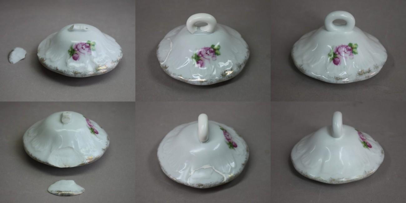 Restauration d'un couvercle de théière en porcelaine