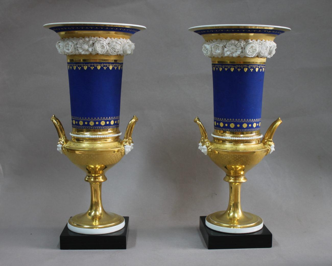 Paire de vases dorés du 19ème siècle