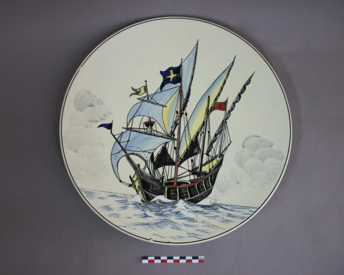 Restauration d'un plat de Longwy du bateau la Sancta Maria