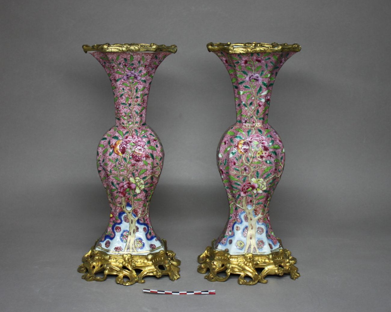 Restauration d'une paire de vases en porcelaine chinoise