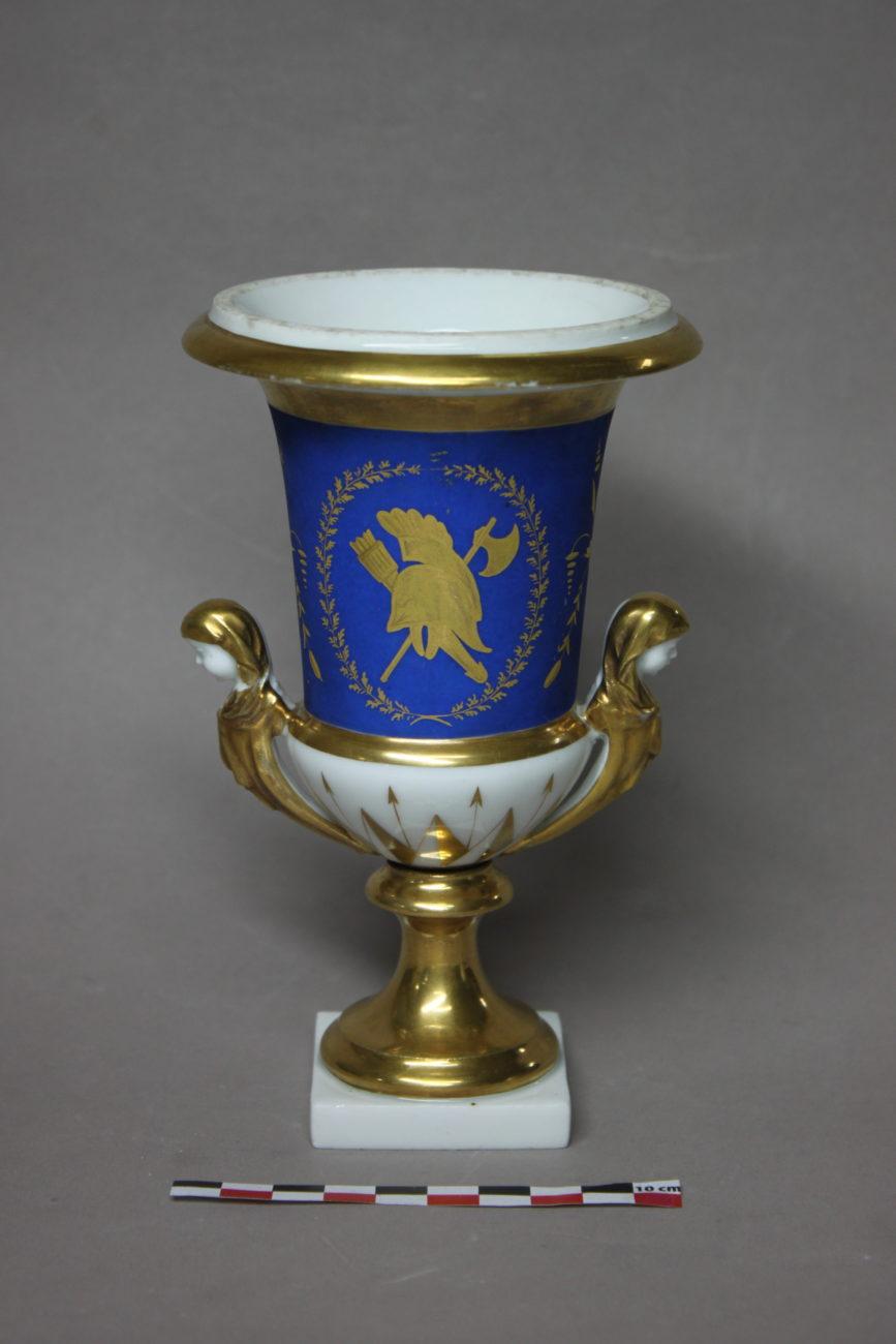 Restauration d'un vase en porcelaine doré