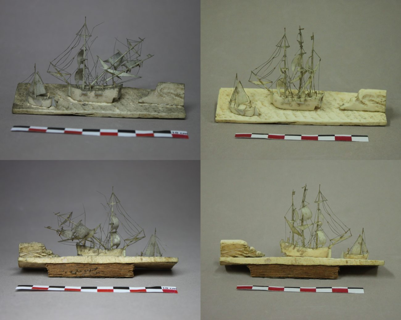 Restauration d'un diorama de scène maritime