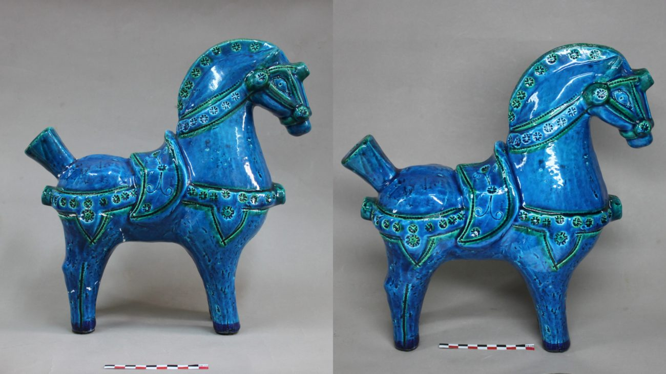 Restauration d'un cheval en faïence d'Aldo Londi