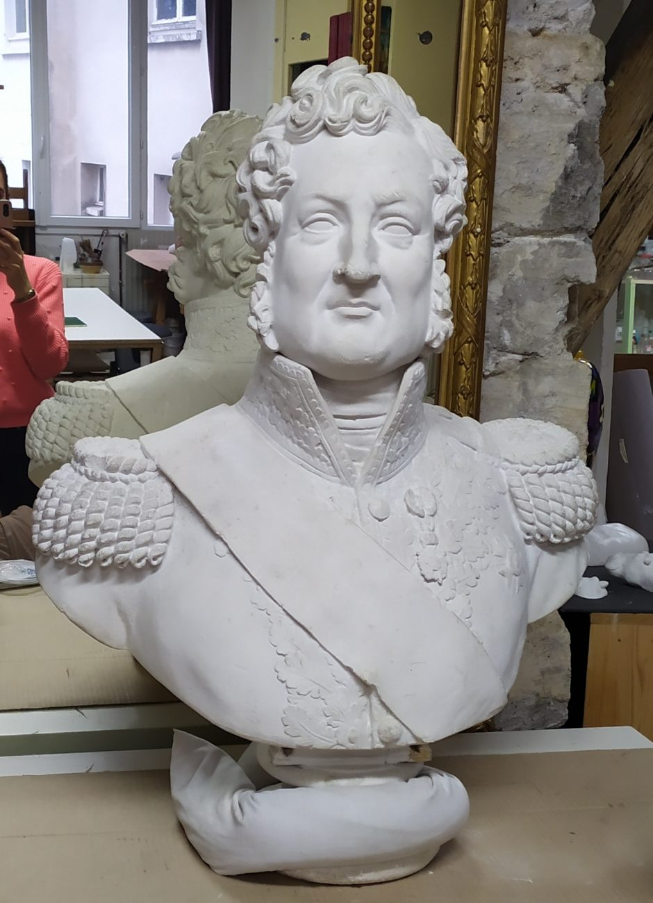 Restauration-conservation d'un buste de Louis-Philippe Ier