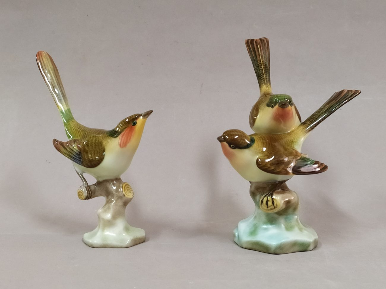 Oiseaux en porcelaine