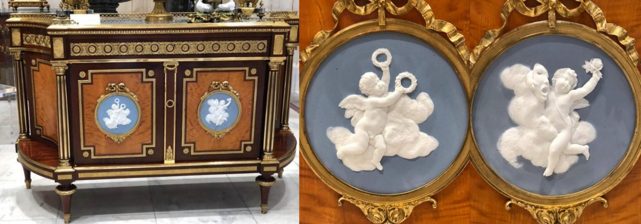 Restauration de médaillons en biscuit de porcelaine de Paris