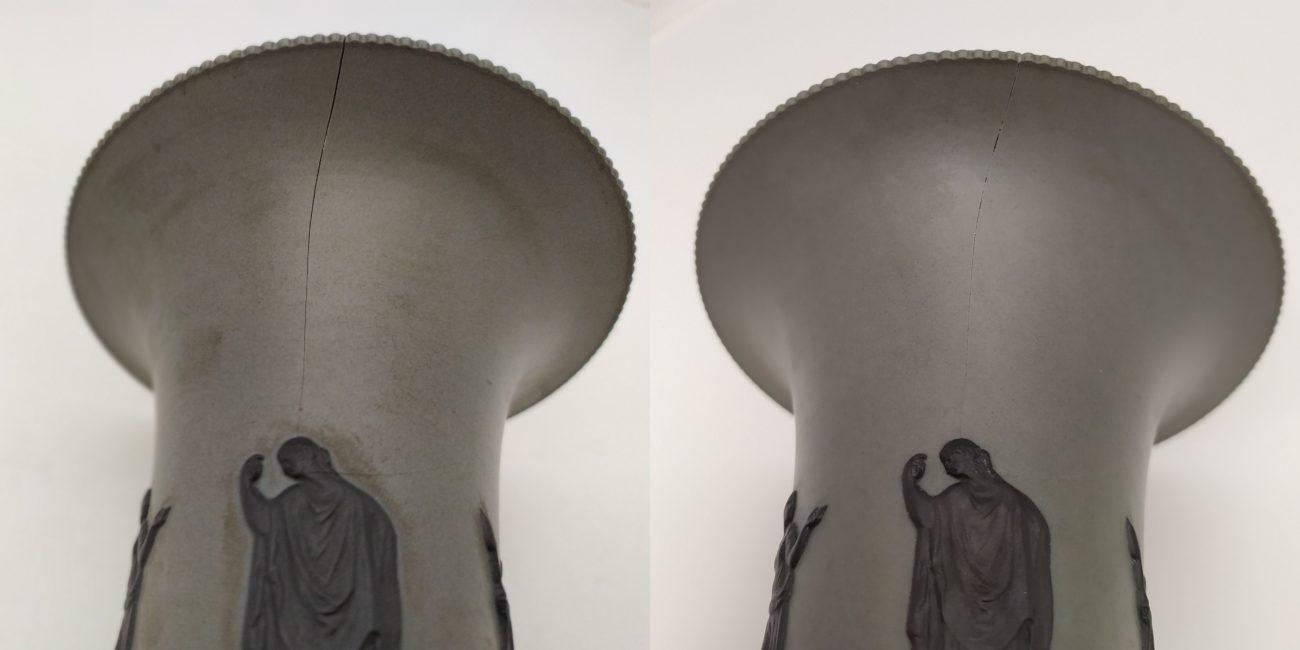 Restauration d'un vase de Sarguemines