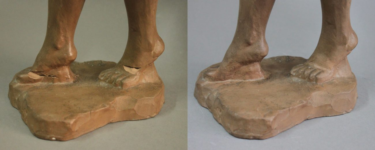 Restauration d'une sculpture de danseuse