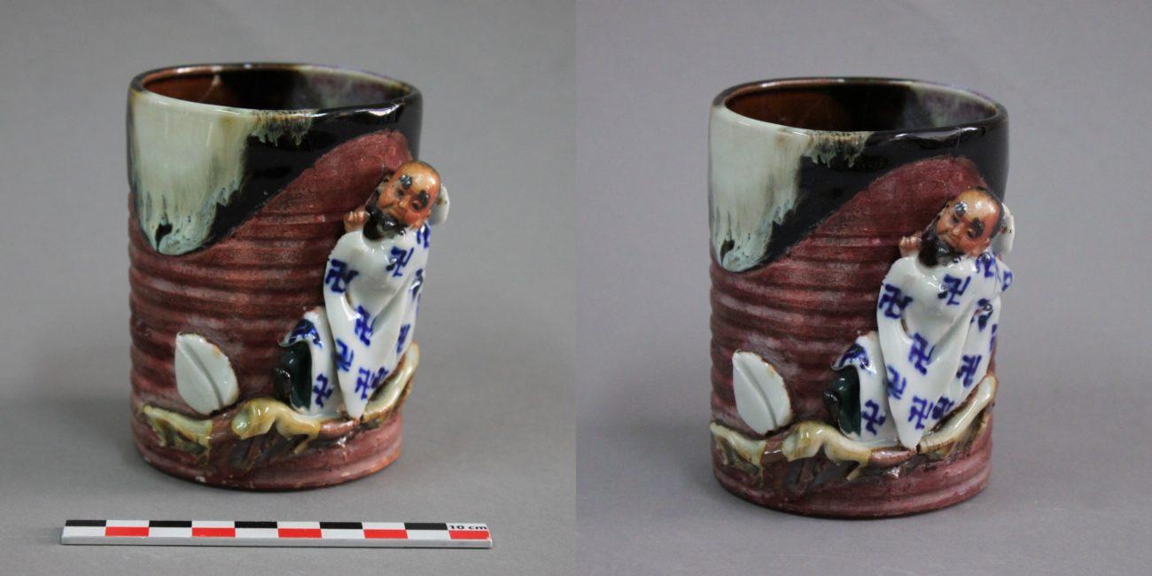 Restauration d'un pot en grès émaillé