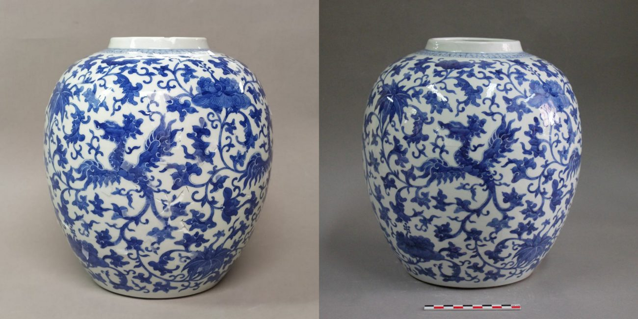 Restauration d'un vase en porcelaine de Chine