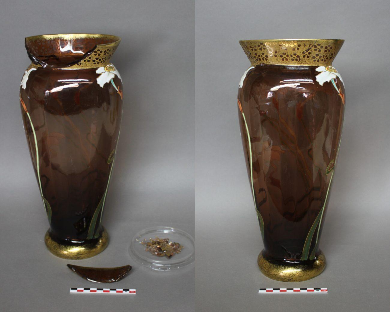 Vase en cristal émaillé de Théodore Legras