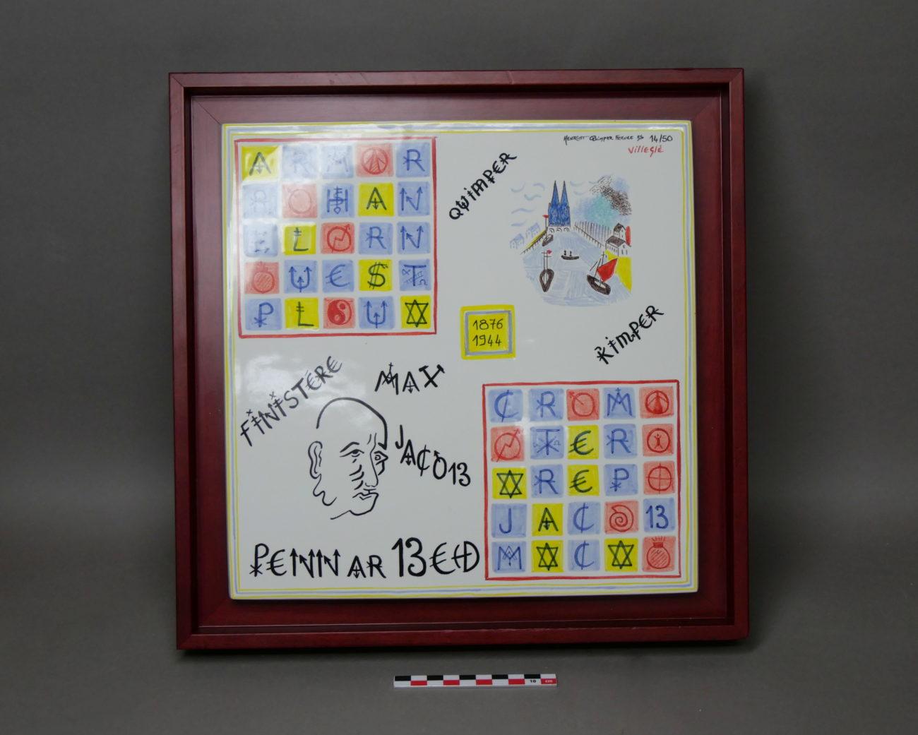Plaque jeux de piste (Max Jacob) de Jacques Villeglé, XXIème siècle.