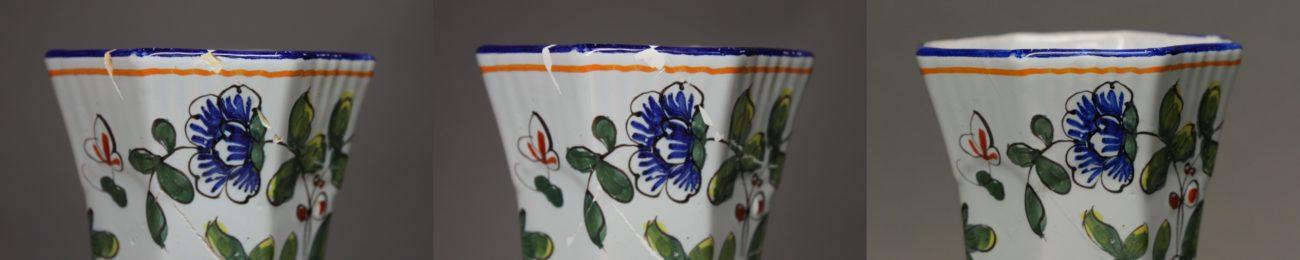 Vase en faïence de Rouen